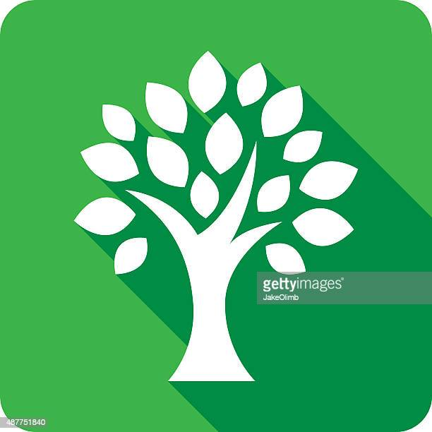 tree icon silhouette - family tree stock illustrations, clip art, cartoons, & icons