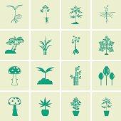 Tree icons vector set.