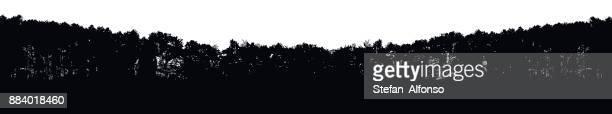 tree line shape - treelined stock illustrations, clip art, cartoons, & icons