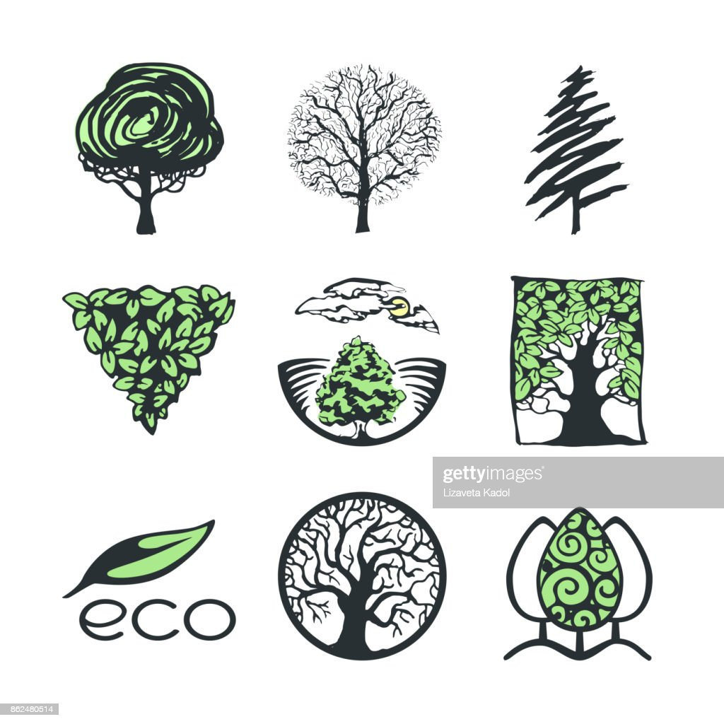 Tree logo collection