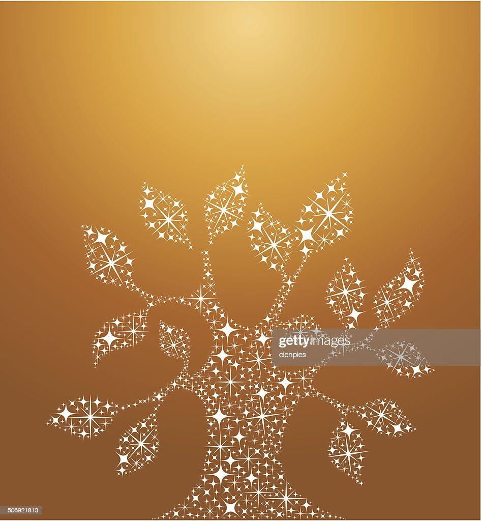 Tree of life stars illustration