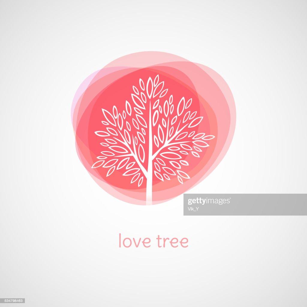 Tree of Love. Vector illustration