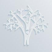 Tree of people