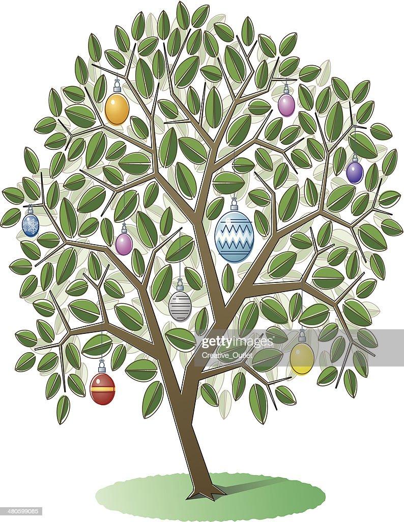 Tree Ornaments C : Vector Art