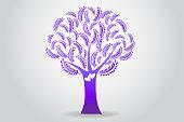 Tree purple symbol icon vector