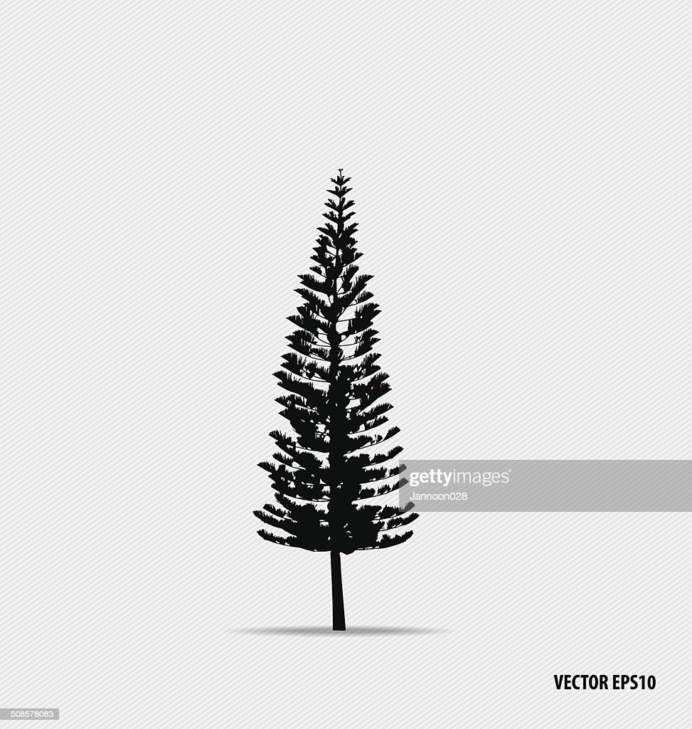 Tree silhouettes. Vector illustration. : Vector Art