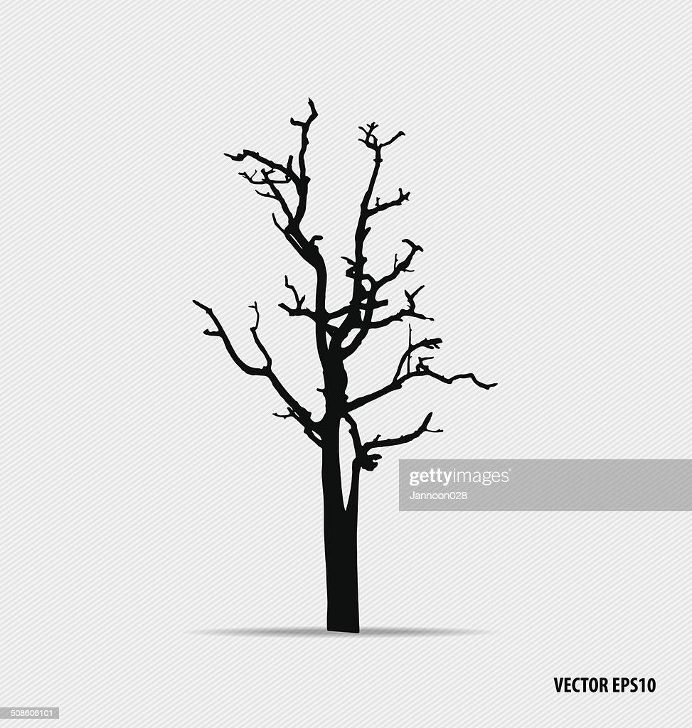 Silhuetas de árvore. Ilustração vetorial. : Arte vetorial