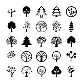 Tree Symbols Icon Set
