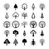 Tree Symbols Vector Pack