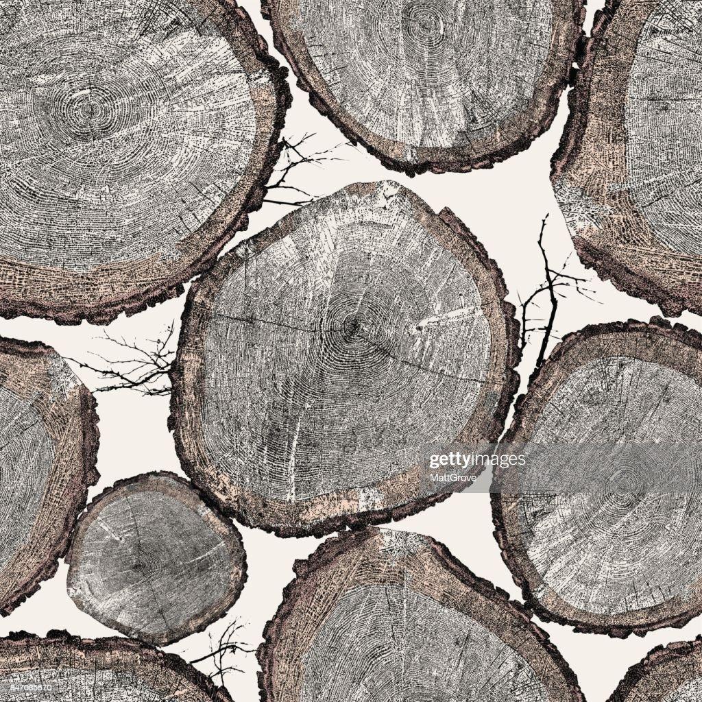 Tree Trunk Repeat Pattern