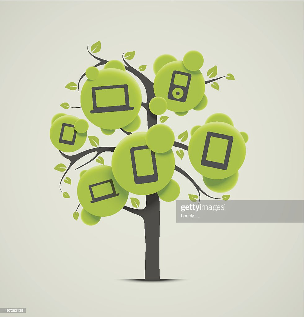 Tree with electronics