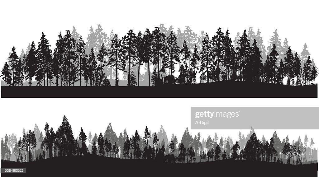 Treeline Header : stock illustration