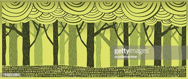 treescape - tree bark stock illustrations, clip art, cartoons, & icons