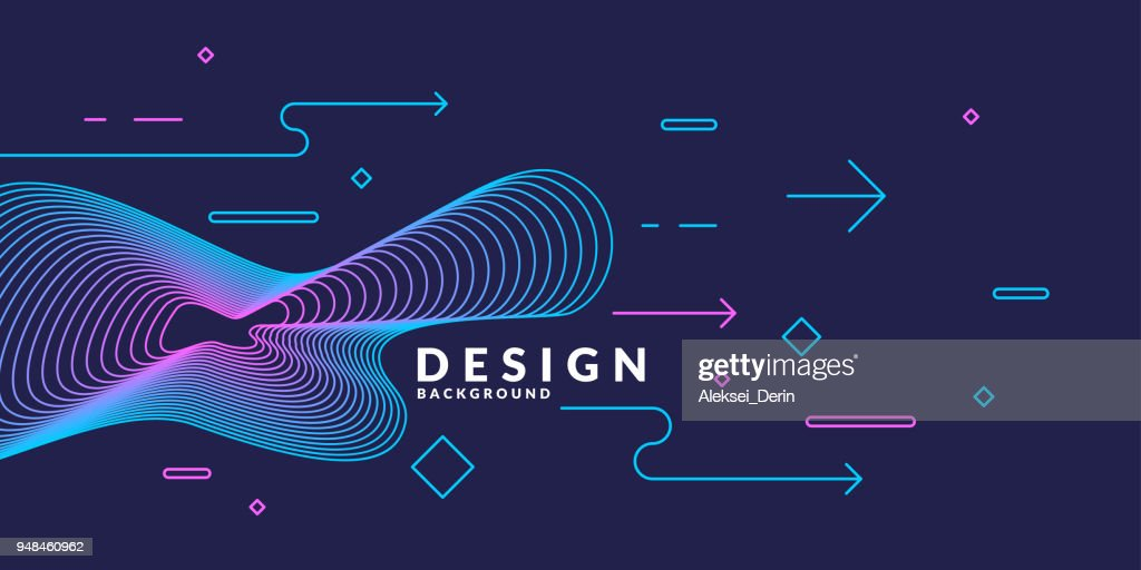 Trendy abstract art geometric background with flat, minimalistic style. Vector poster
