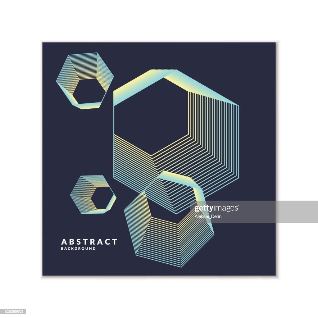 Fond Geometrique Tendance Art Abstrait Avec Plat Minimaliste Affiche