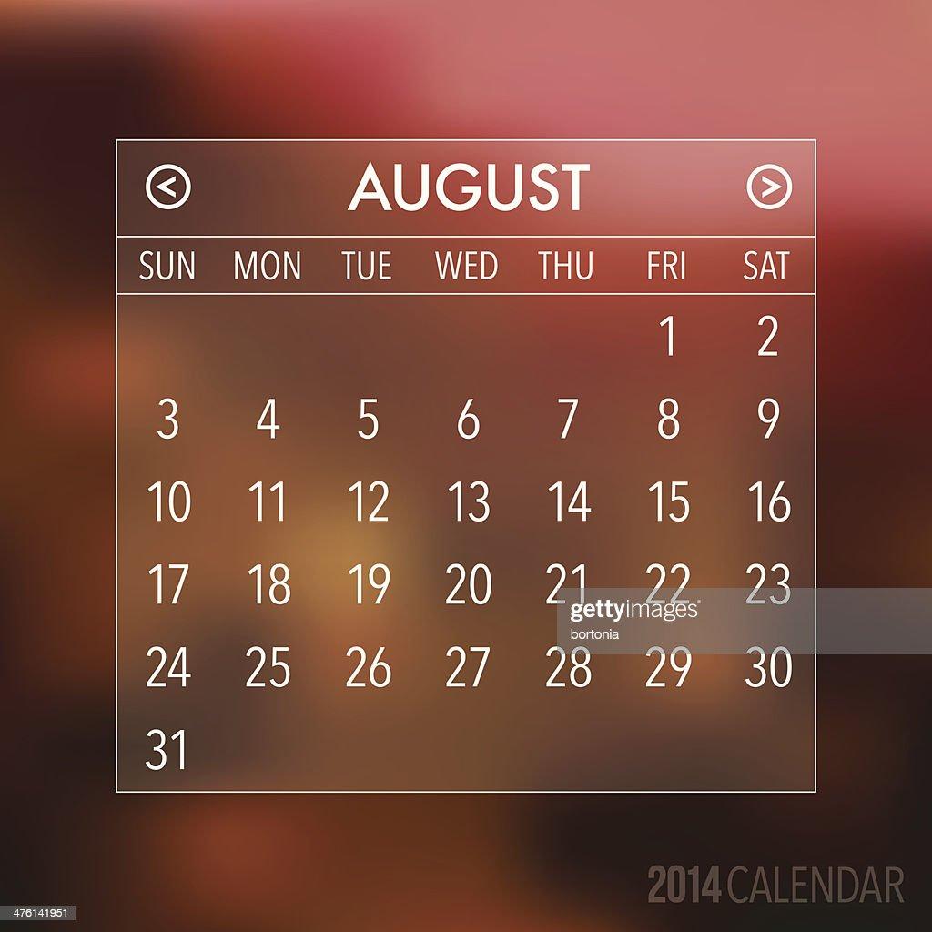 Trendy Abstract Blurry 2014 Hipster Calendar