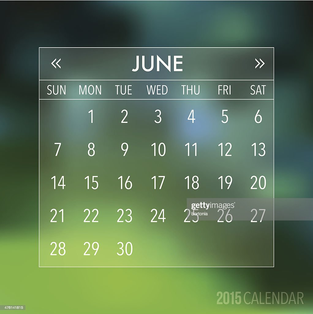 Trendy Abstract Blurry Hipster 2015 Calendar