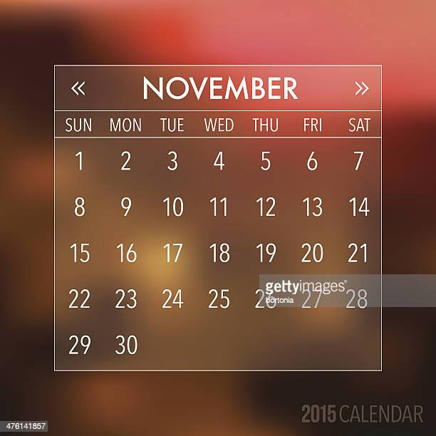 trendy abstract blurry hipster 2015 calendar - thursday stock illustrations