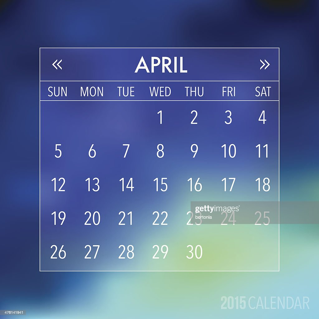 Trendy Abstract Blurry Hipster 2015 Calendar
