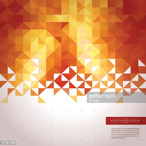 Trendy Abstract Golden Geometric Hipster Background