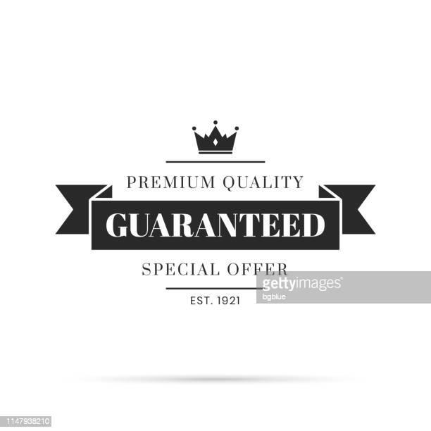 トレンディなブラックバッジ-保証、プレミアム品質、特別オファー - 限定版点のイラスト素材/クリップアート素材/マンガ素材/アイコン素材