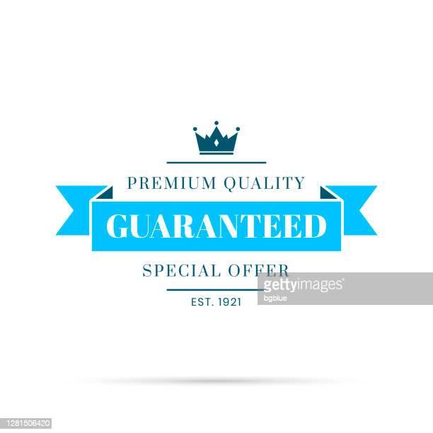 トレンディなブルーバッジ - 保証、プレミアム品質、特別オファー - 限定版点のイラスト素材/クリップアート素材/マンガ素材/アイコン素材