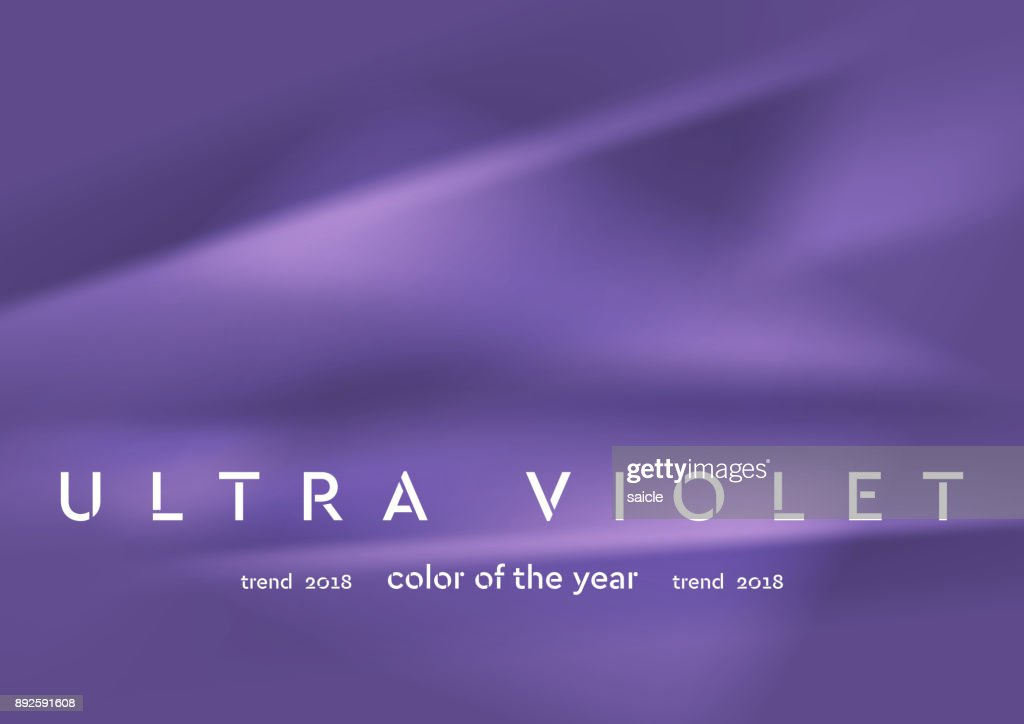 Trendy color ultra violet 2018. Smooth abstract background