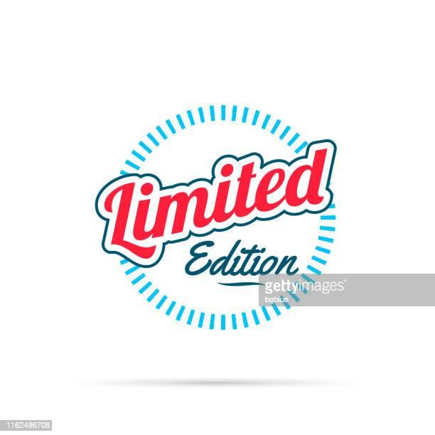トレンディなカラフルバッジ - リミテッドエディション - 限定版点のイラスト素材/クリップアート素材/マンガ素材/アイコン素材