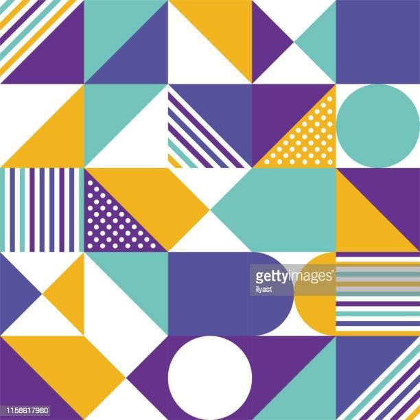 illustrations, cliparts, dessins animés et icônes de tendance - colorful composition vector pattern design - imprimé graphique
