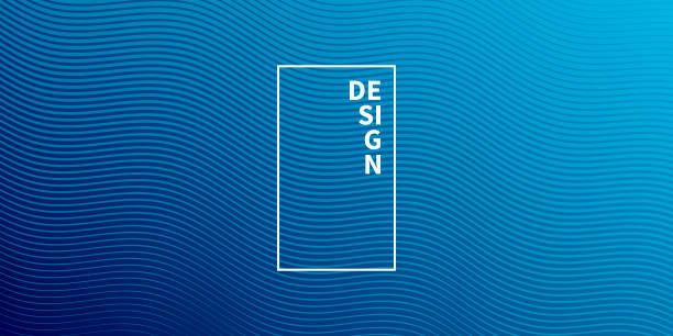 trendy geometric design - blue abstract background - cool attitude stock illustrations