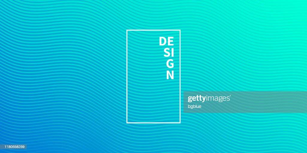 Design geometrico alla moda - Sfondo astratto blu : Illustrazione stock