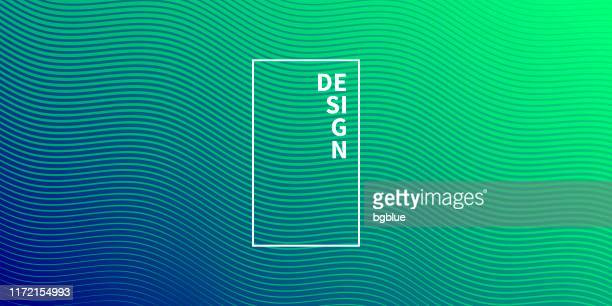 trendy geometric design - green abstract background - line stock illustrations