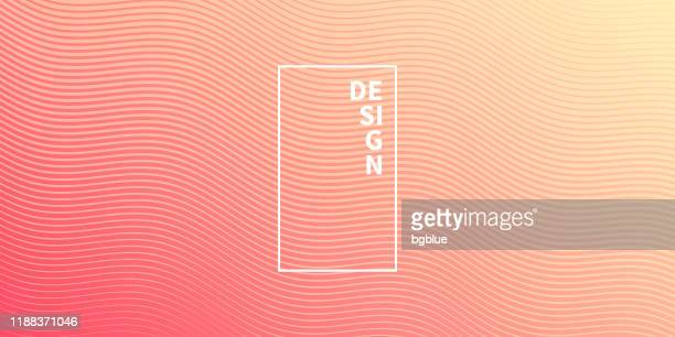 trendy geometric design - red abstract background - beige stock illustrations