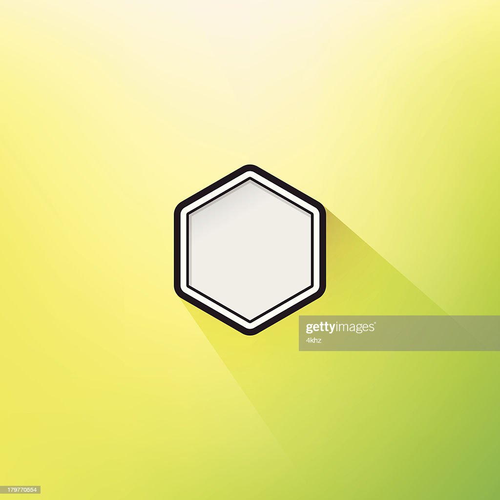 Trendy Geometric Flat Design Hexagon Frame Long Shadow Defocus ...