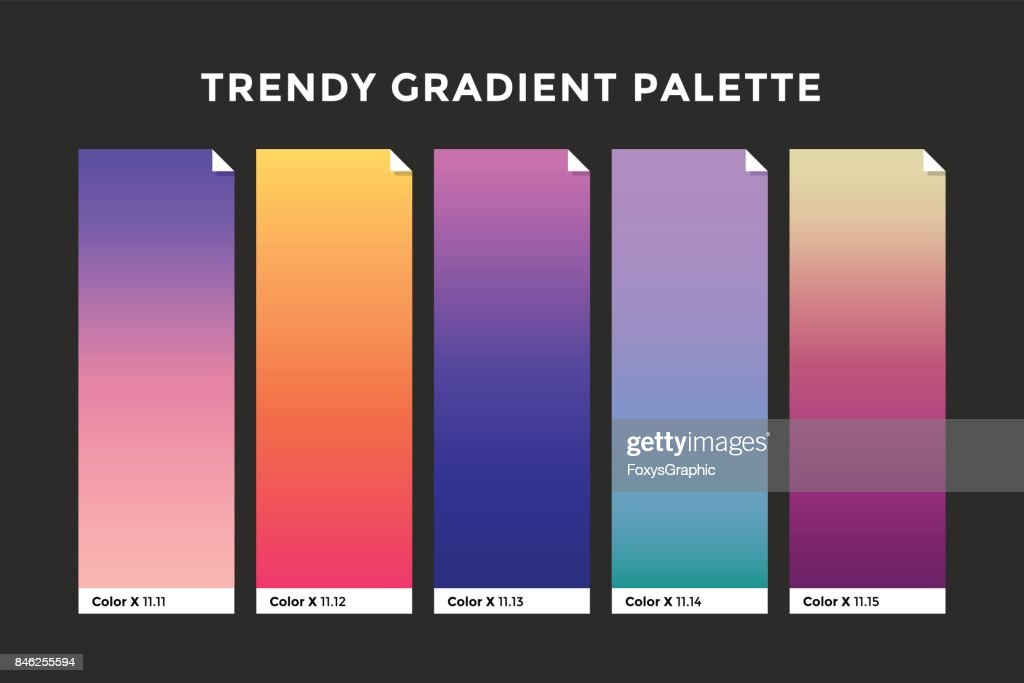 Trendy gradient swatches