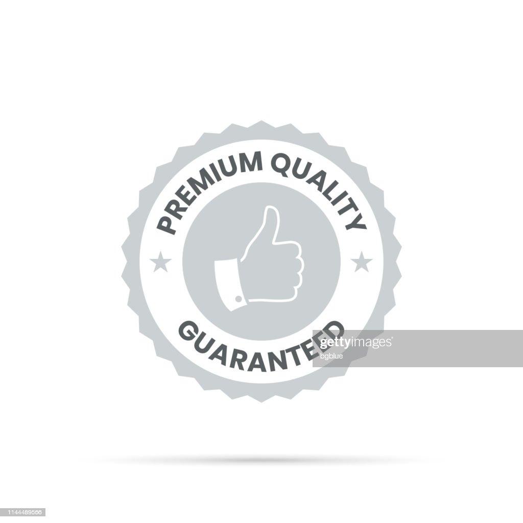 トレンディなグレーバッジ-プレミアム品質、保証 : ストックイラストレーション