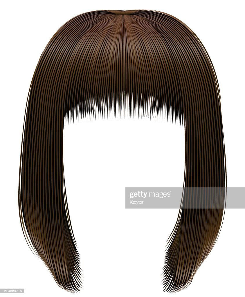 trendy hairs  dark  brown colors . kare fringe . beauty fashion