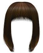 trendy hairs  dark  brown colors . kare fringe . beauty fashion