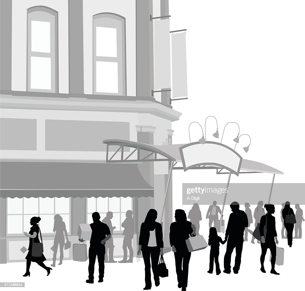 Trendy Market Place : stock illustration