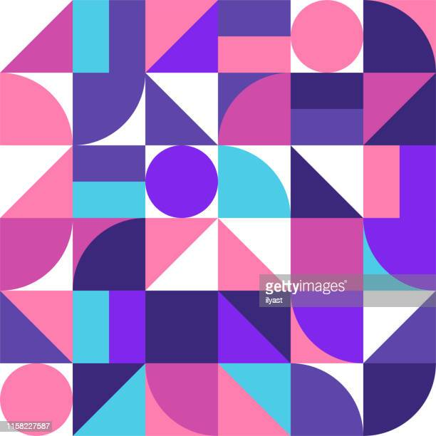 trendy minimal swiss style vector pattern design - graphic print stock illustrations