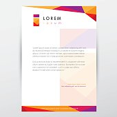 Free download of letterhead design vector graphics and illustrations trendy multicolored letterhead design template for business spiritdancerdesigns Choice Image