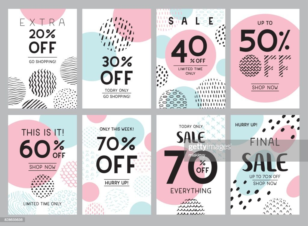 Trendy online sale banners