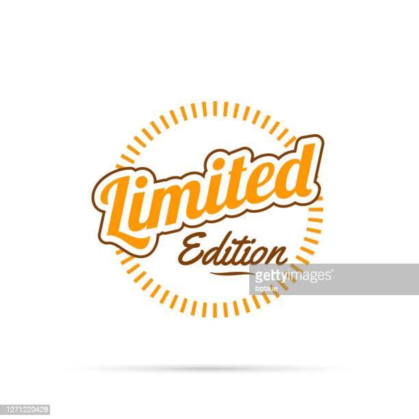 トレンディオレンジバッジ - 限定版 - 限定版点のイラスト素材/クリップアート素材/マンガ素材/アイコン素材