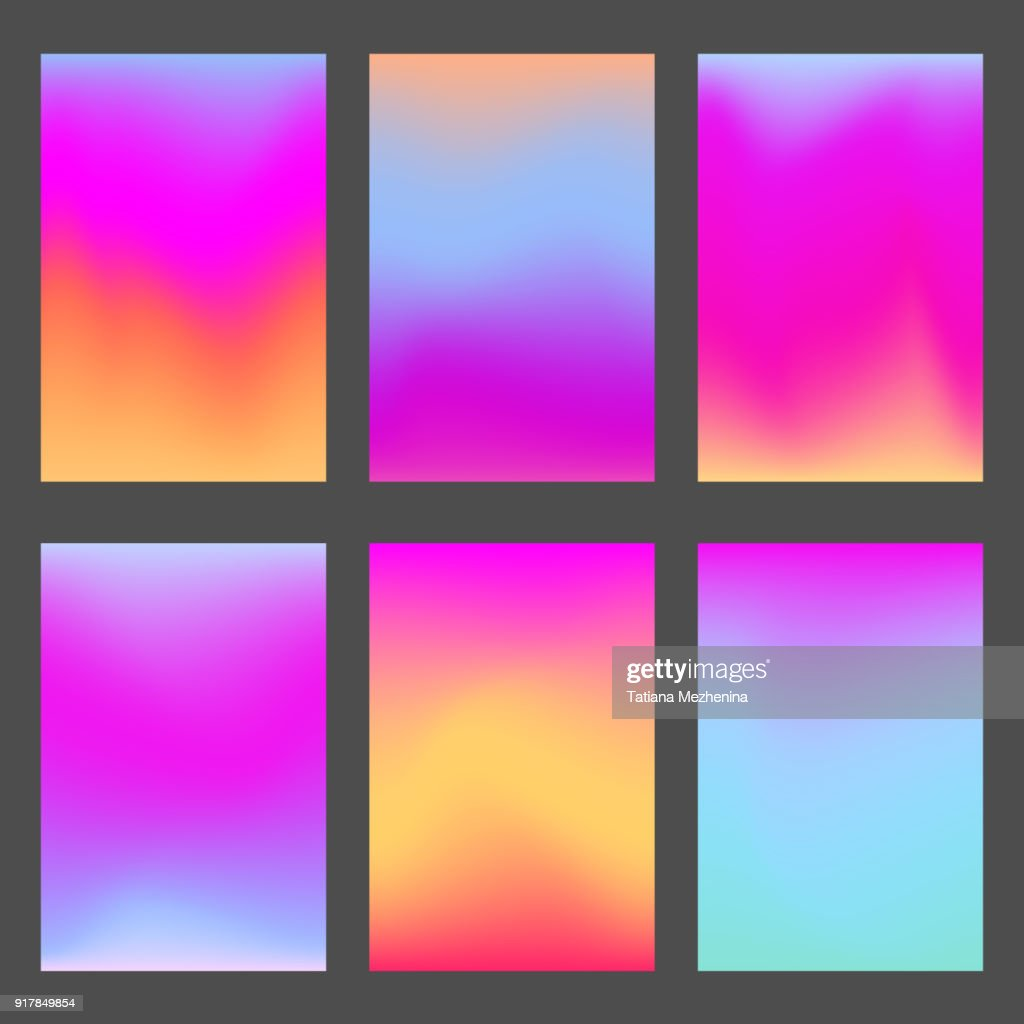 Trendy pink and violet gradients for ui design
