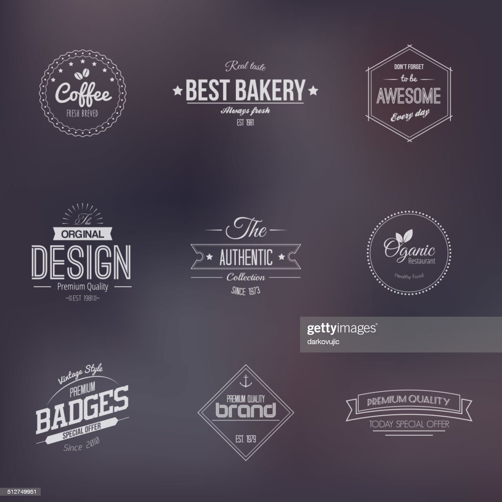 Trendy Retro Vintage badges