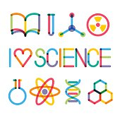 Trendy science icons