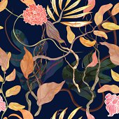 trendy seamless pattern with harbor theme