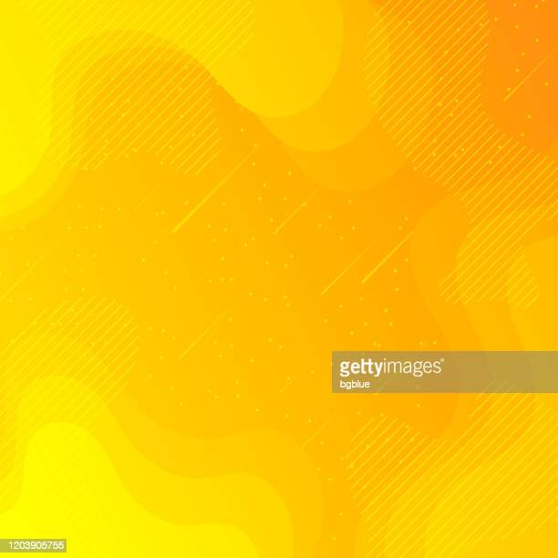 trendy starry sky with fluid and geometric shapes - orange gradient - meteor shower stock illustrations
