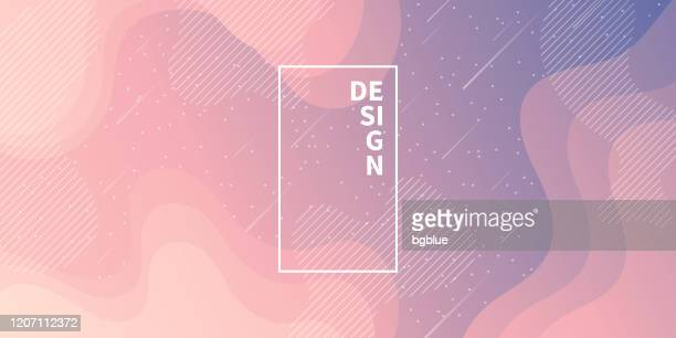 trendy starry sky with fluid and geometric shapes - pink gradient - star space stock illustrations