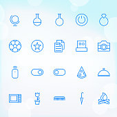 Trendy Thin Icons for web and mobile Set 18